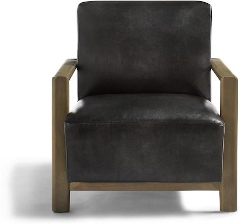 Sensational Matrix Leather Accent Chair Machost Co Dining Chair Design Ideas Machostcouk