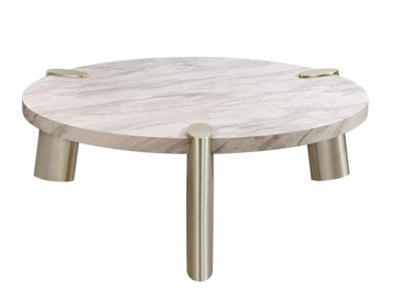 Picture of: Whiteline Modern Living Faux Marble Coffee Table 11251