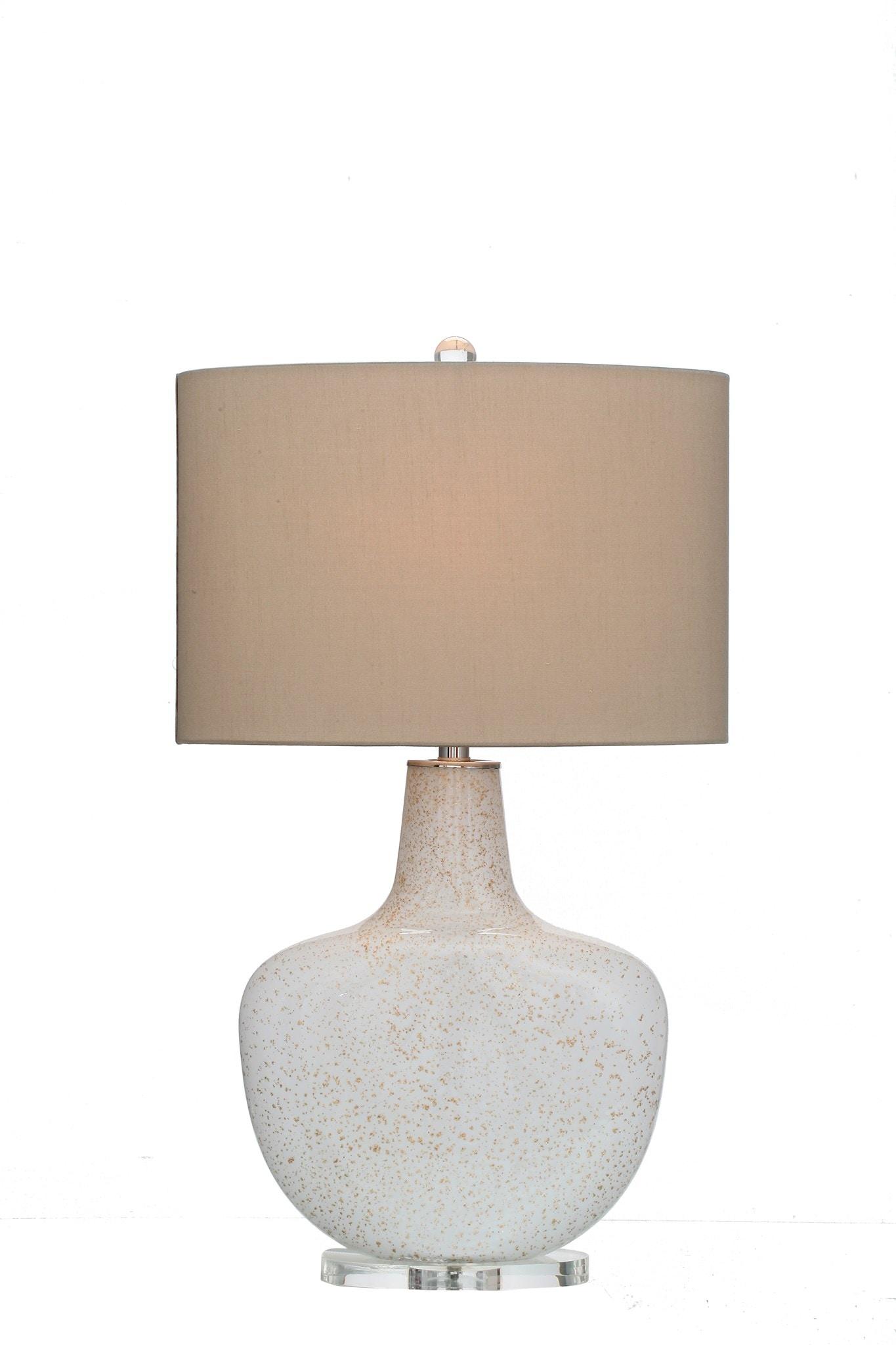 Viz Glass Inc Lamps and Lighting White Glass Table Lamp 10139