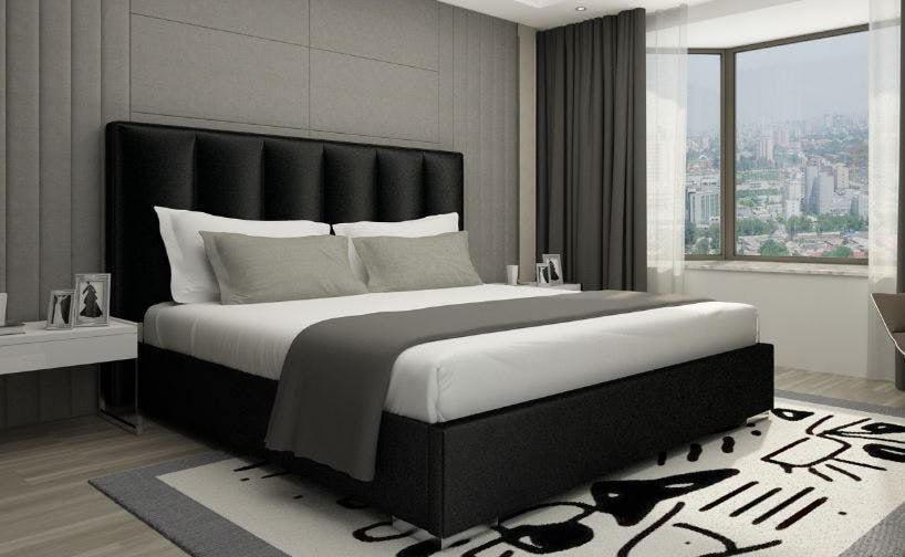 Whiteline Modern Living Bedroom Velvet Bed 10917 At Decor Interiors