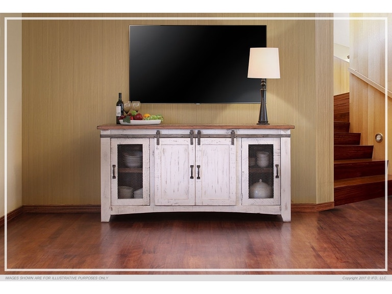 International Furniture Living Room Pueblo White 70 T V Stand 360stand At Short Co