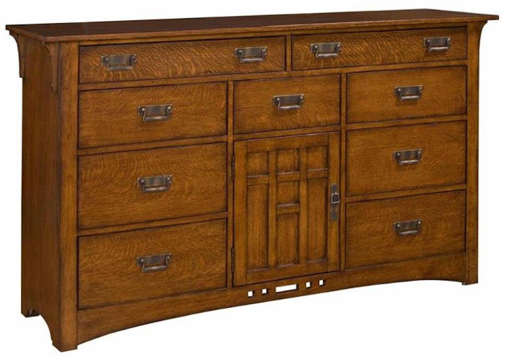 Broyhill Bedroom Artisan Ridge Oak Door Dresser 4078 232