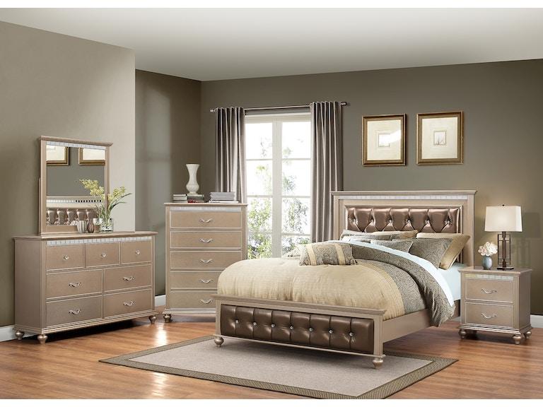 United Dresser Mirror Queen Bed Set On Sale At Elgin Furniture