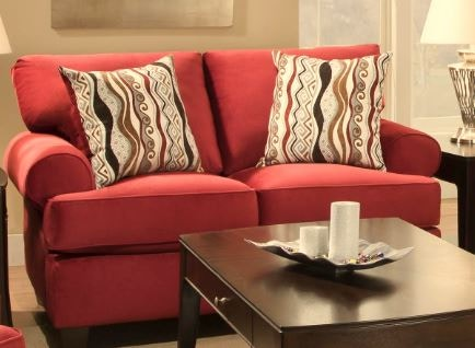 Corinthian Jackpot Red   Loveseat 47B2