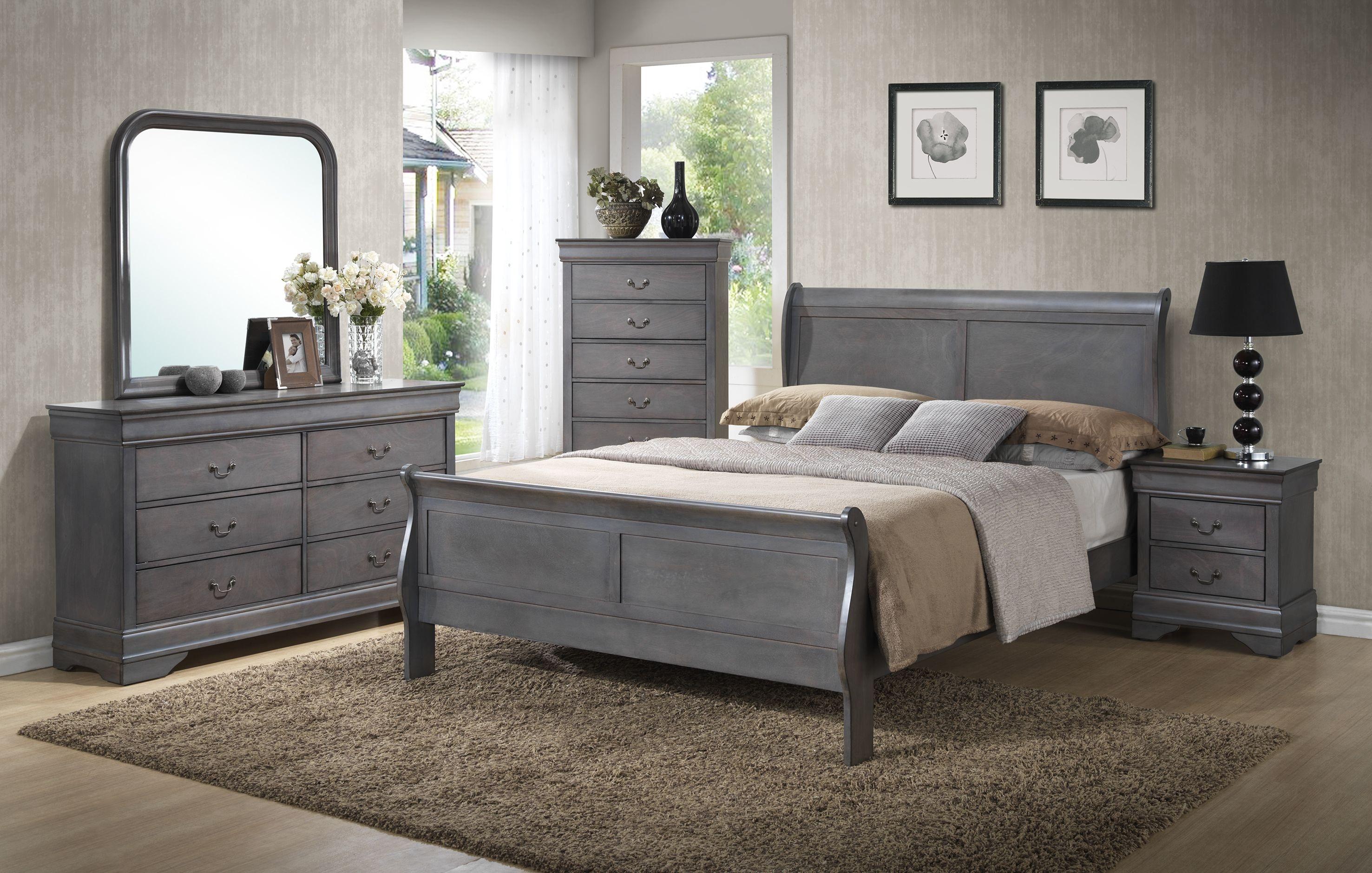 Lifestyle Dresser Mirror Chest Queen Sleigh Bed Set On Sale At