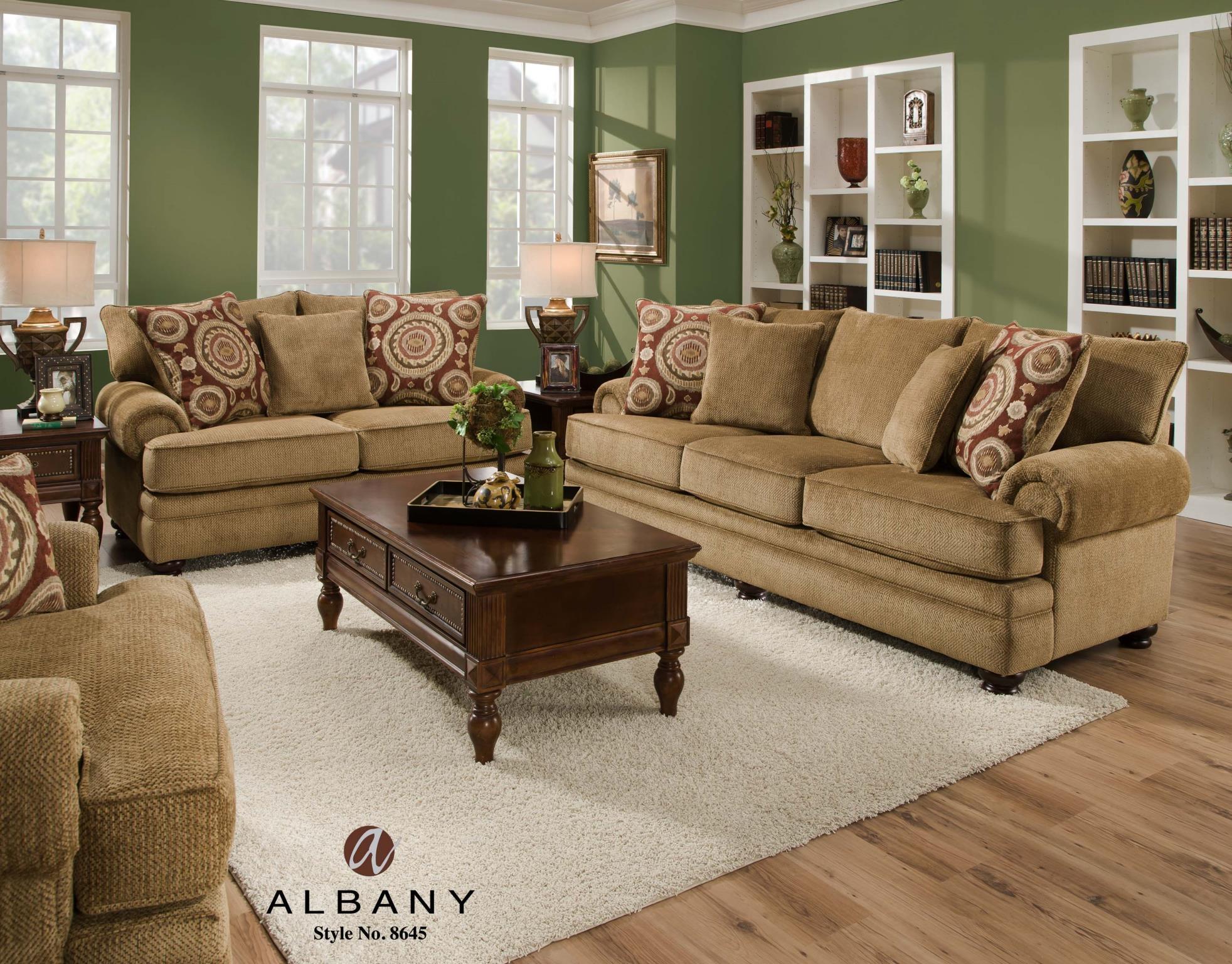 Albany Sofa And Loveseat 8645 00/10