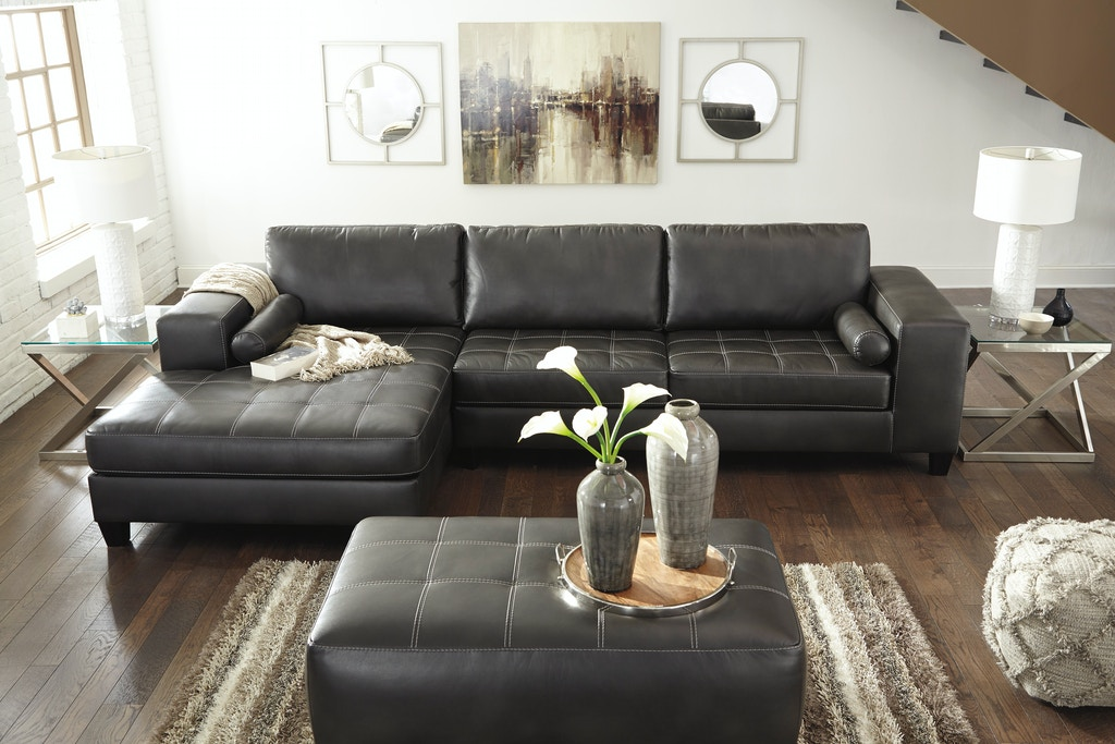 Signature Design By Ashley Sectional Wleft Chaise On Sale At Elgin