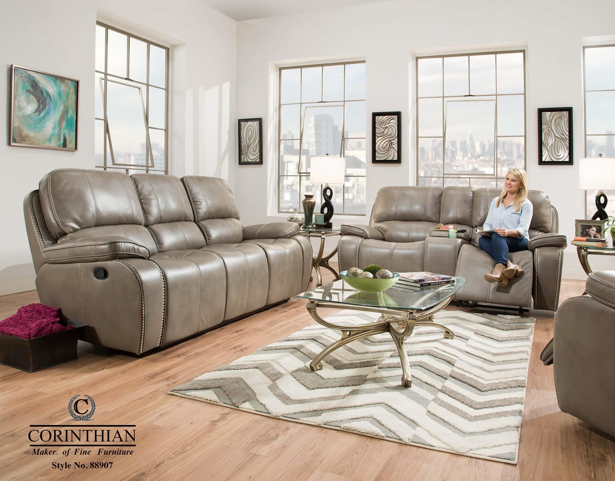 Corinthian Reclining Sofa U0026 Loveseat 88907 30/40