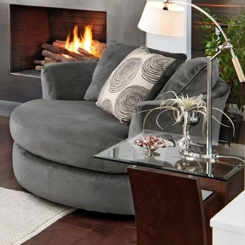 Albany Swivel Chair 8642 27 SMOKE