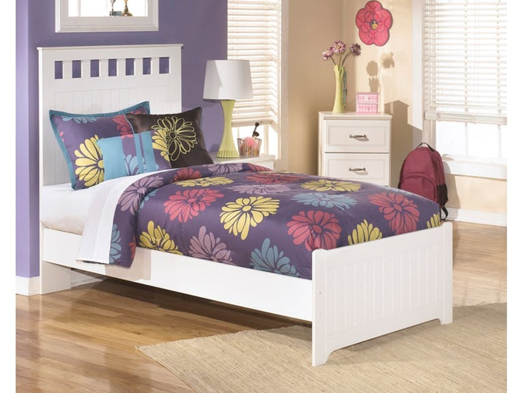 Signature design by ashley lulu twin panel bed on sale at for Panel beds for sale