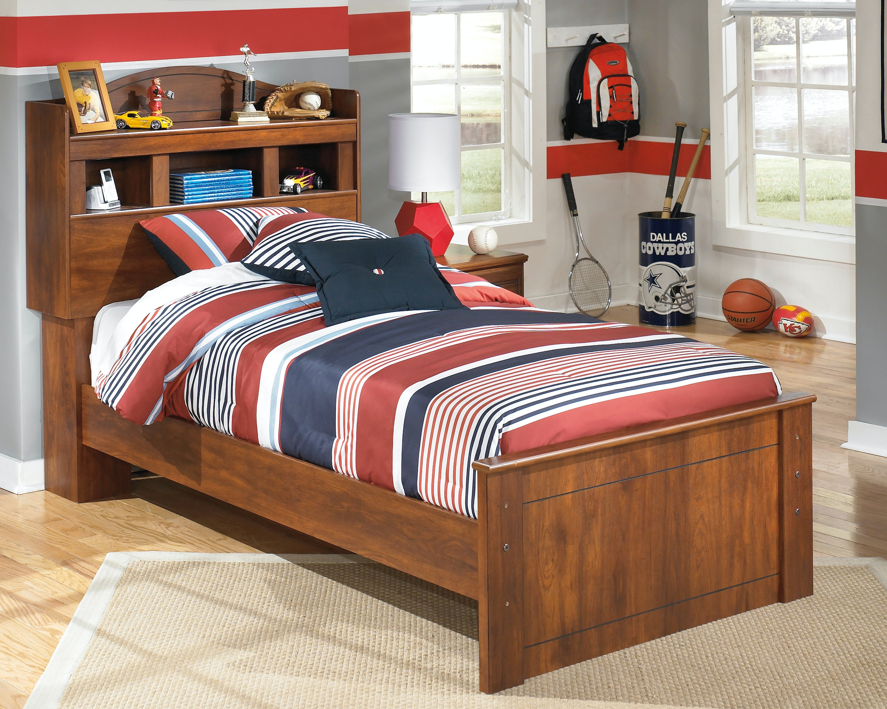 Signature Design By Ashley Barchan Twin Bookcase Bed B228 52/63/82