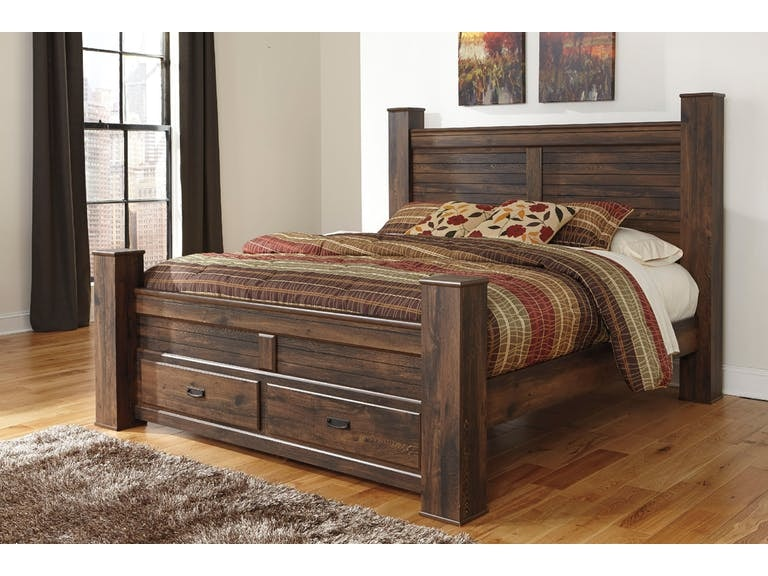 16e6d42d985e5 Signature Design by Ashley Quinden Queen Poster Storage Footboard on sale  at Elgin Furniture in Euclid