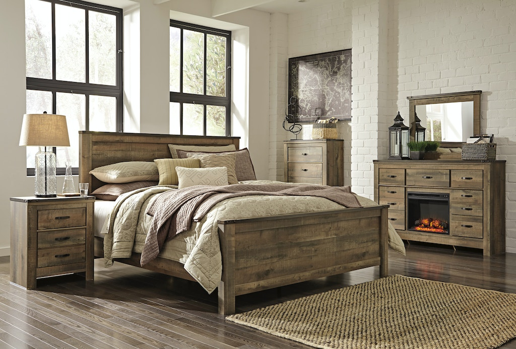 Signature Design By Ashley Trinell 5 Pc King Bedroom Set On Sale At Elgin Furniture Stores In