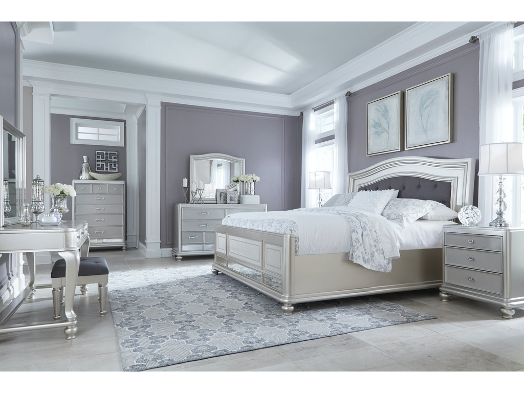 Signature design by ashley coralayne 5 pc king bedroom on for Ashley furniture 5 pc bedroom sets