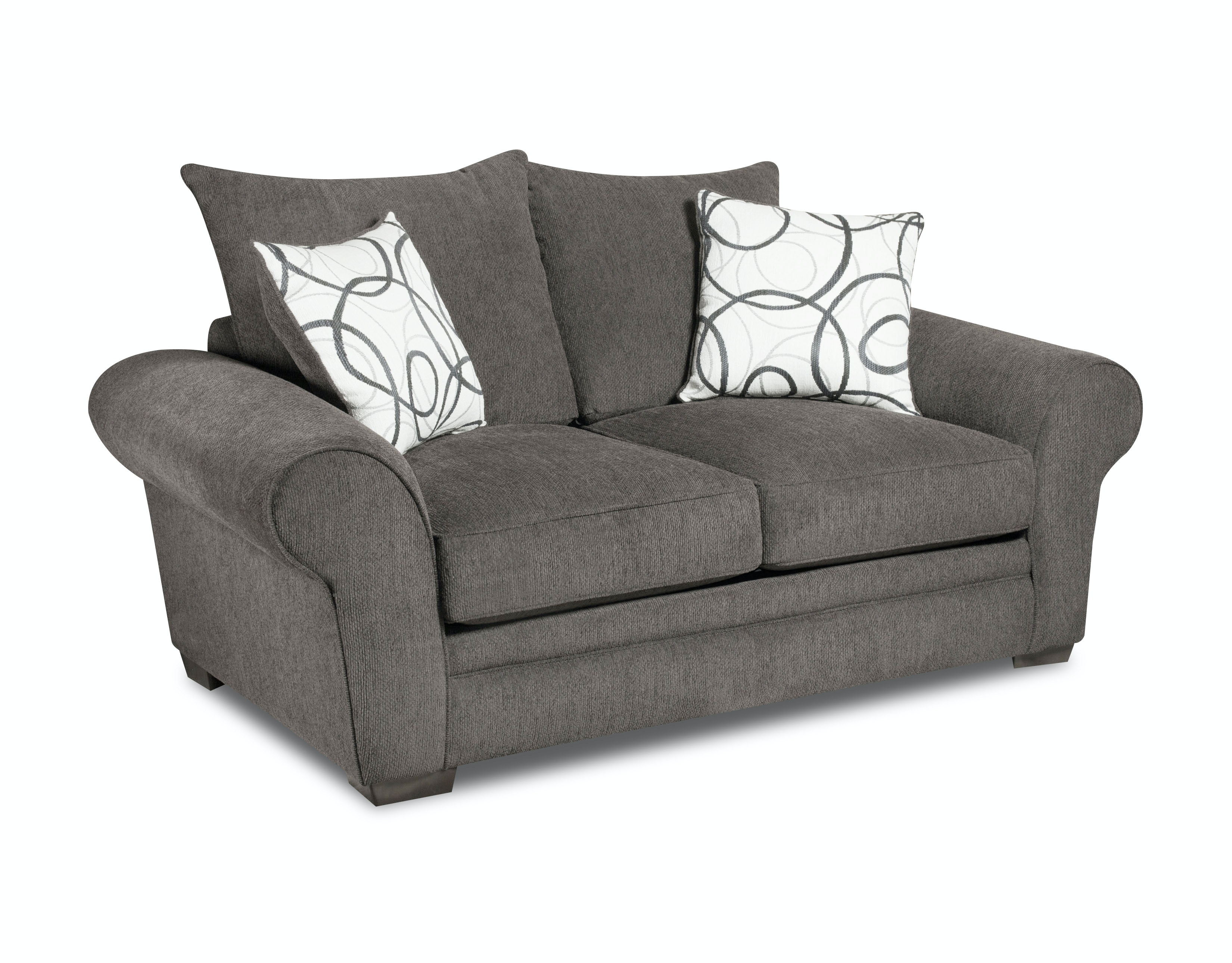 Corinthian Othello Black Loveseat On Sale At Elgin Furniture In Euclid,  Cleveland Heights, U0026 North Randall