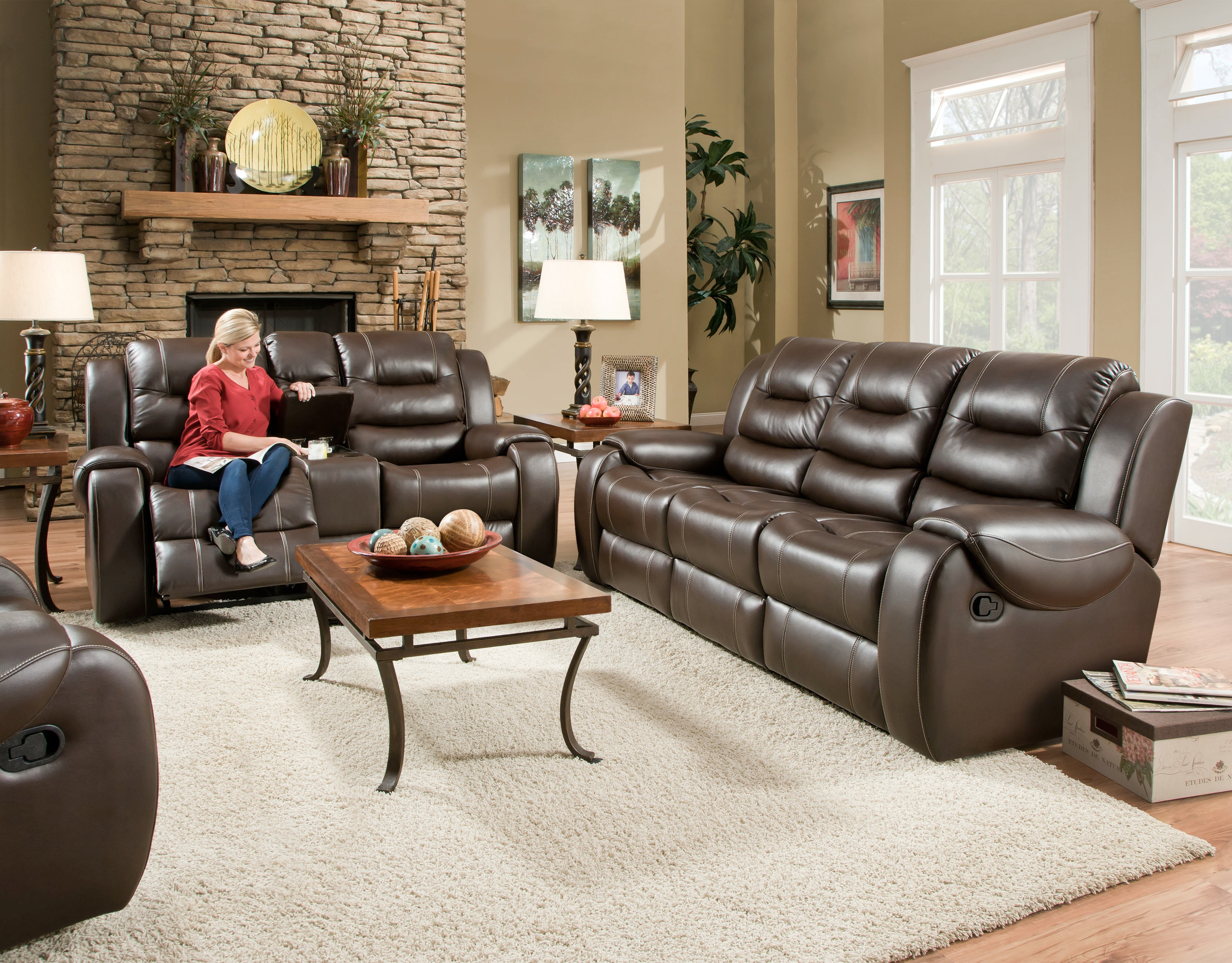 Corinthian Reclining Sofa Loveseat On Sale At Elgin Furniture