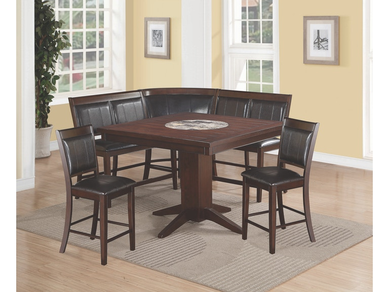 Crown Mark Counter Height Table 2 Chairs Corner Chair Bench 2726