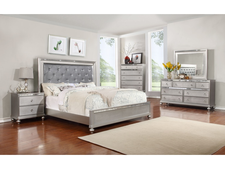 lifestyle dresser mirror chest king bed - Mirror Bed Frame