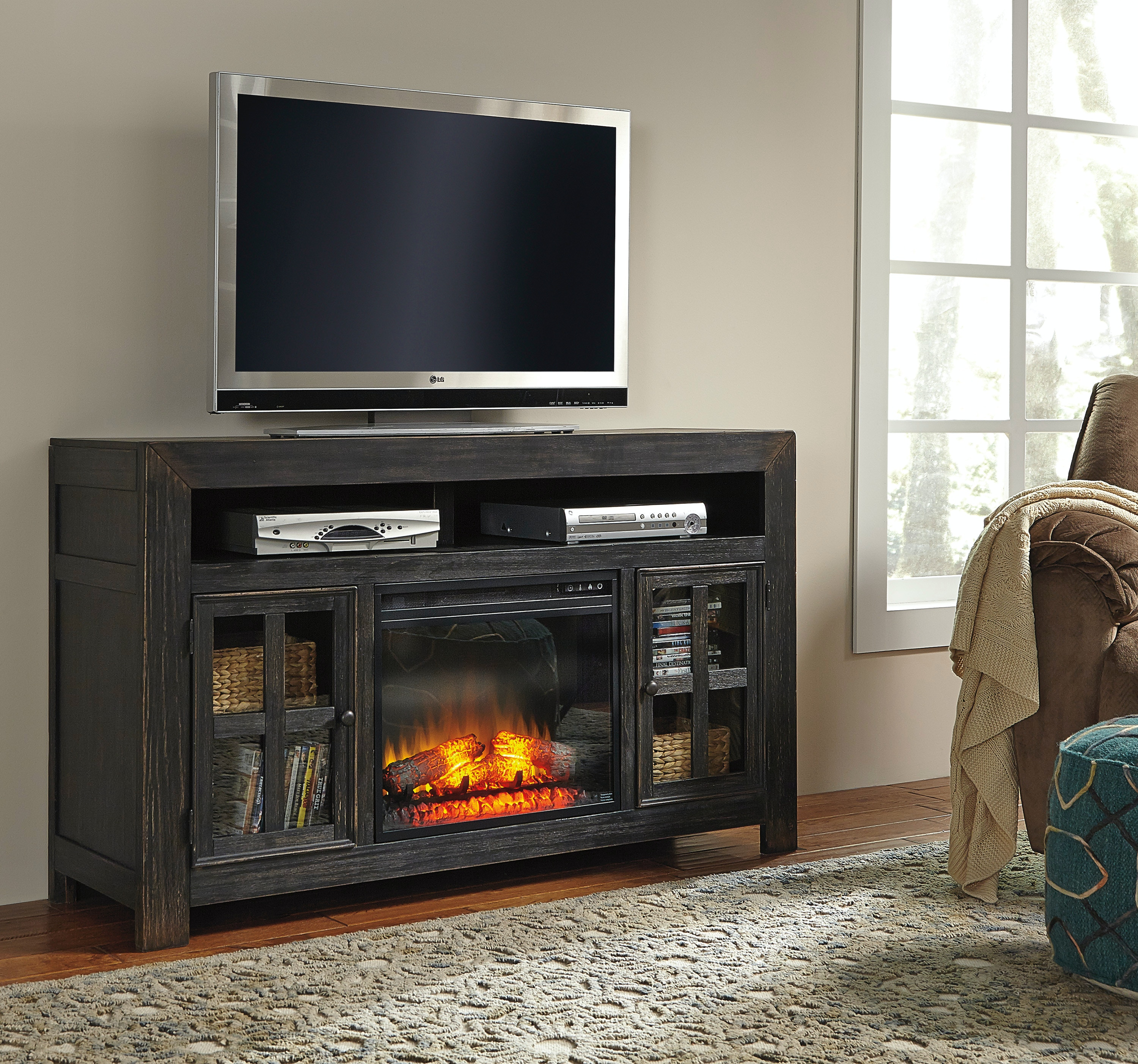 Signature Design By Ashley Tv Stand W Fireplace Insert On Sale At