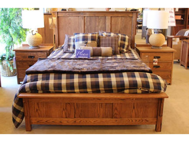 Clearance Bedroom Queen Size Spanish Mission Bed 323744P