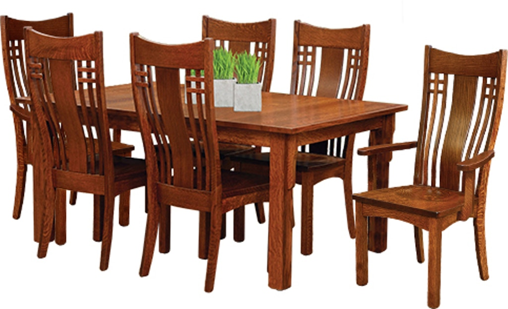 Andalusia Solid Wood Dining Table 42x66 w/2-12\