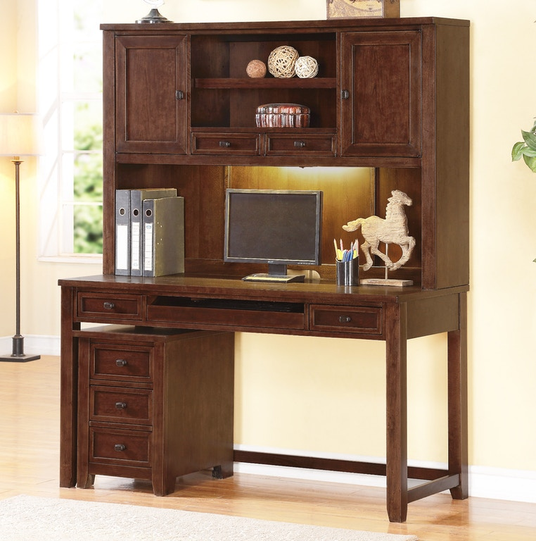 Theodore Cherry 60 Writing Desk With Hutch