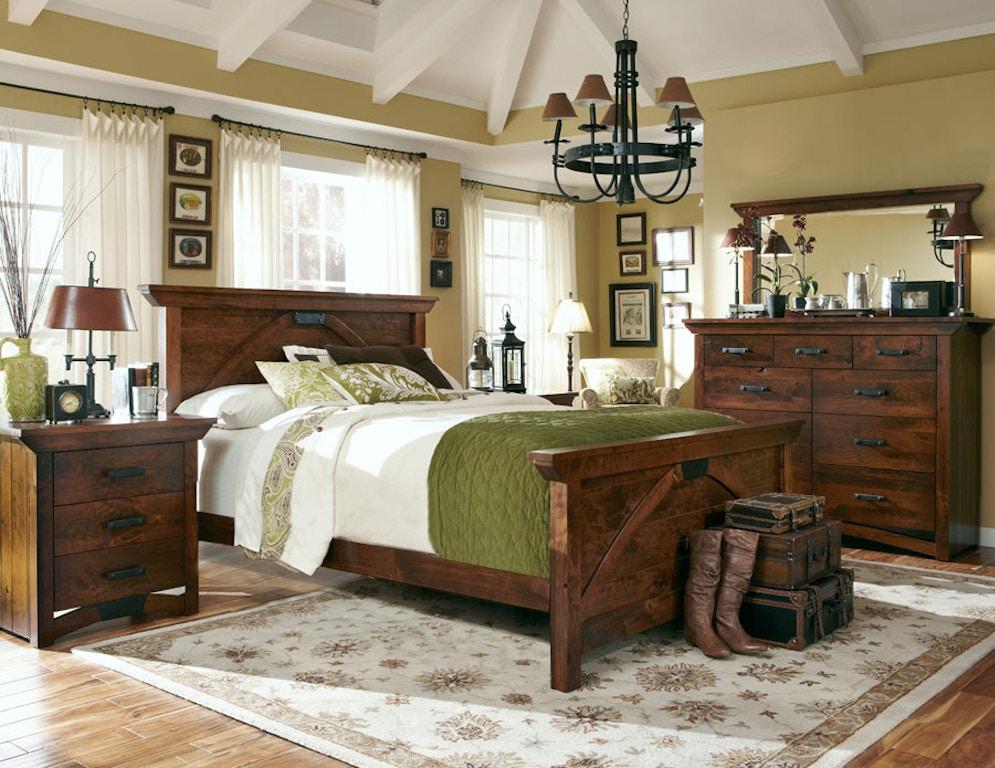 Simply Amish Bedroom B O Railroad Solid Wood California King Panel