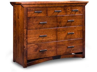 Simply Amish Bedroom B Amp O Railroad Solid Wood 9 Drawer Bureau 048396 Naturwood Home Furnishings