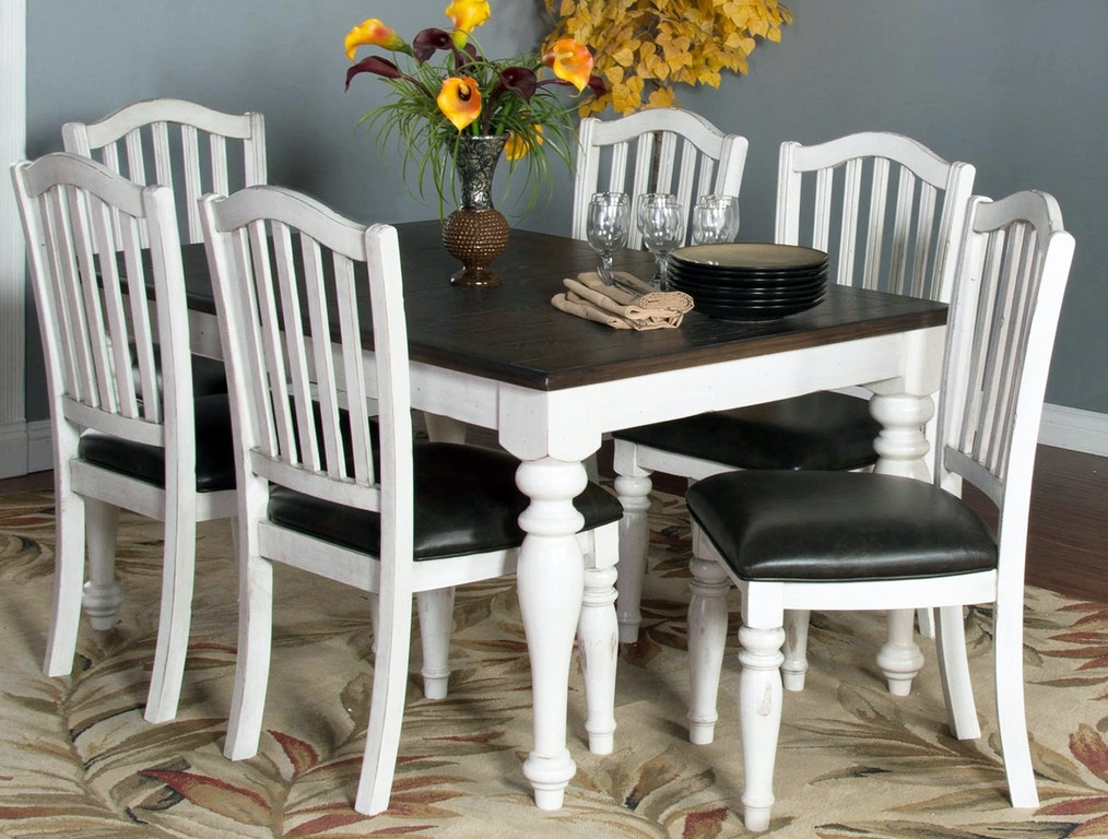 Bourbon 7 Piece Dining Table Set