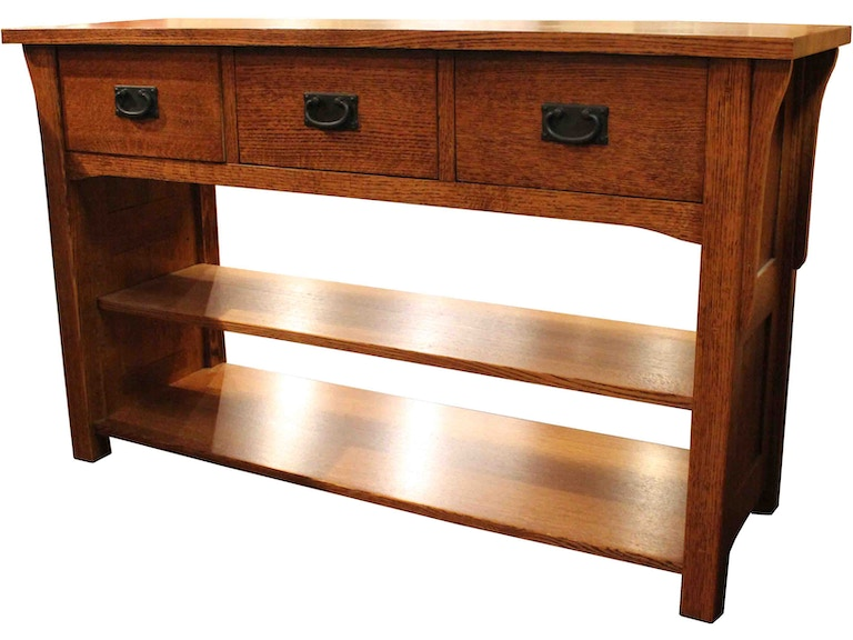 Mission Solid Wood 3 Drawer Sofa Table