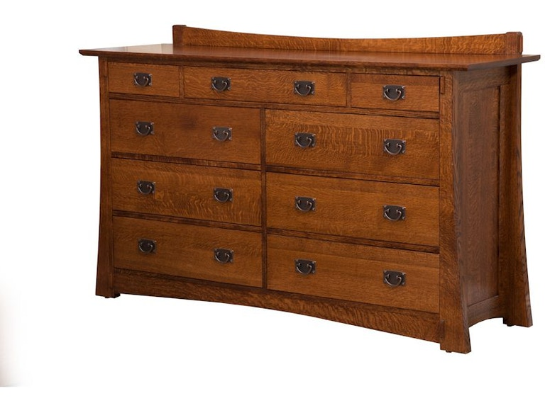 Arts & Crafts Solid Wood 9 Drawer Dresser