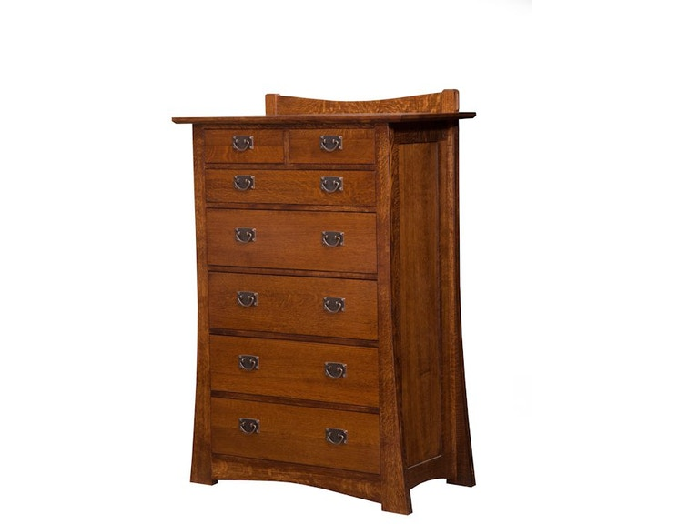 Arts & Crafts Solid Wood 7 Drawer Chest