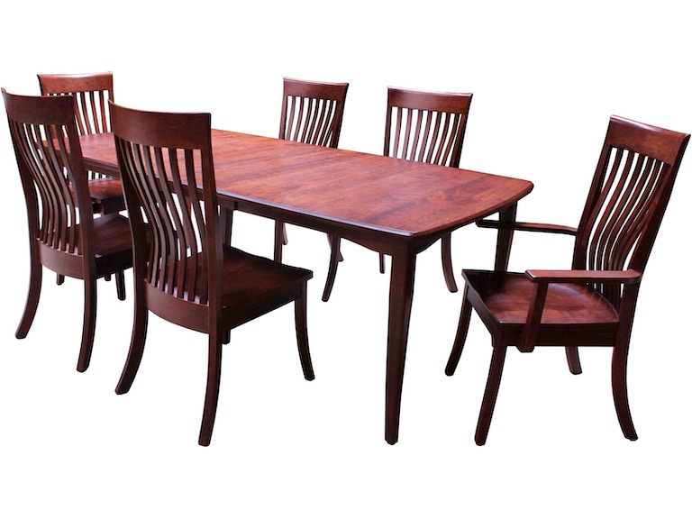 Vienna Solid Wood Dining Table 42x66 w/2-12\