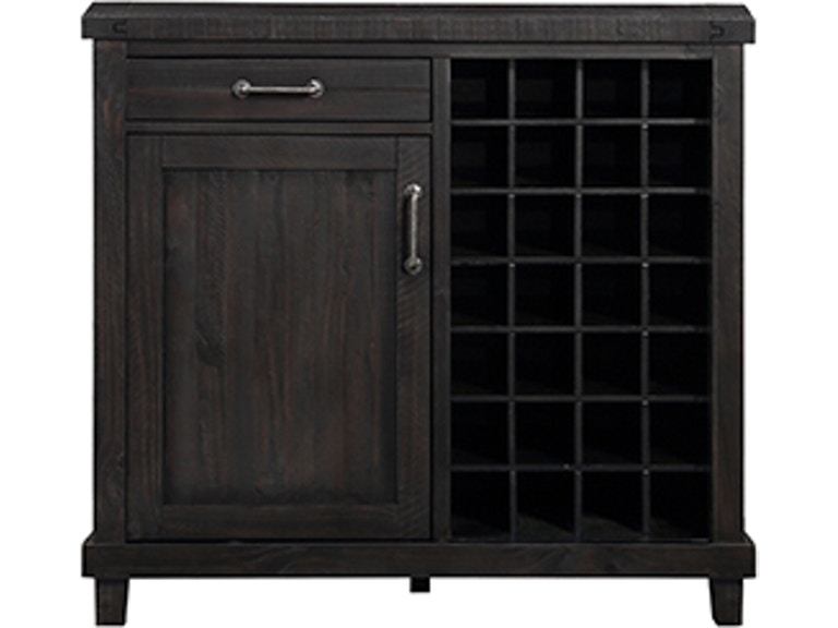 Yosemite Black Wine Bar Cabinet 743008