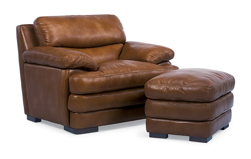 Flexsteel Dylan Leather Chair Without Nailhead Trim 1127 10 908 80