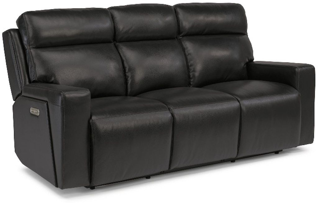 Amazing Flexsteel Niko Leather Power Reclining Sofa With Power Ncnpc Chair Design For Home Ncnpcorg