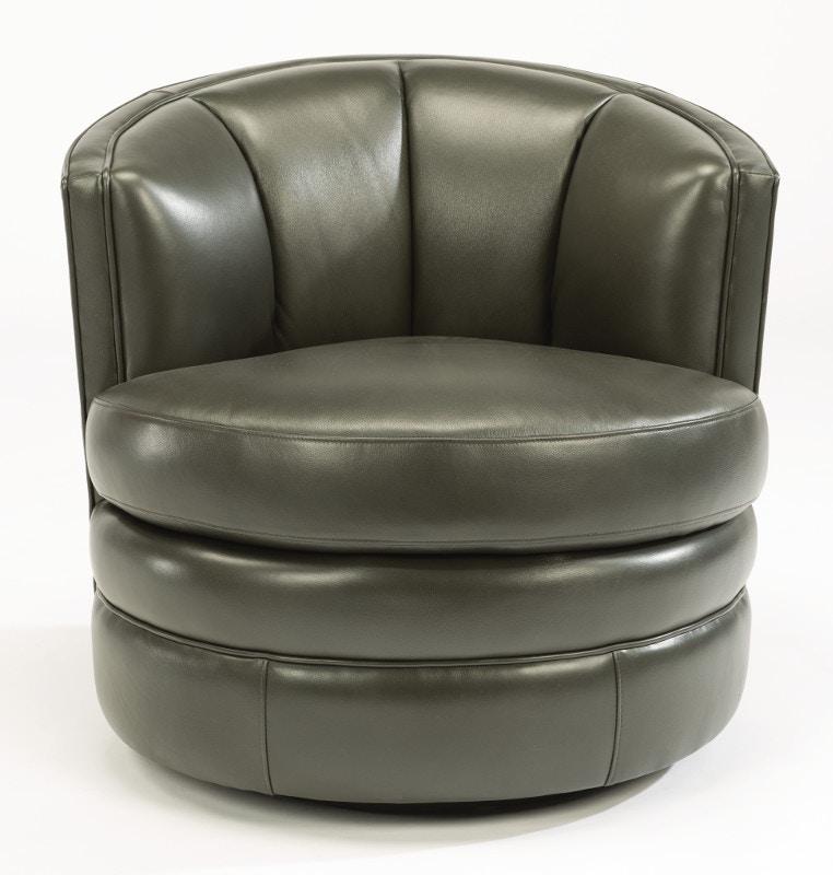 Flexsteel Leather Swivel Chair 1621 11 014 02 In Portland, Oregon