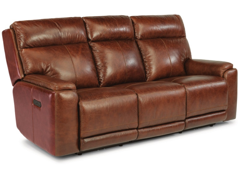 Astonishing Flexsteel Sienna Leather Power Reclining Sofa With Power Machost Co Dining Chair Design Ideas Machostcouk