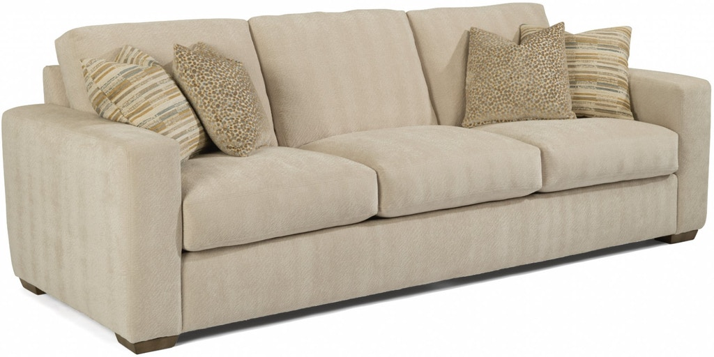 Flexsteel Collins Large Three Cushion Sofa 7107-32 ...