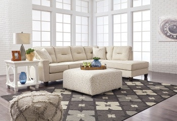 Merveilleux Ashley Kirwin Nuvella LAF Sofa, Ottoman U0026 RAF Corner Chaise Sectional  99605 66