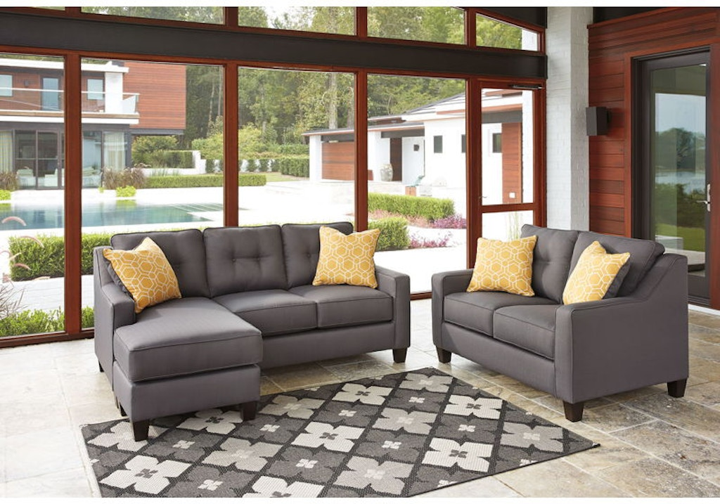 Ashley Aldie Nuvella Sofa Chaise and Loveseat Set 68702-18 ...