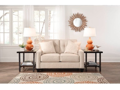 Ashley Aldie Nuvella Sofa Chaise And Loveseat Set 68702 18