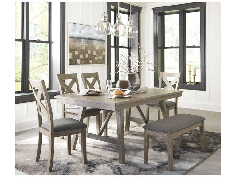 Ashley Aldwin 6 Piece Rectangular Dining Table Set D617 45