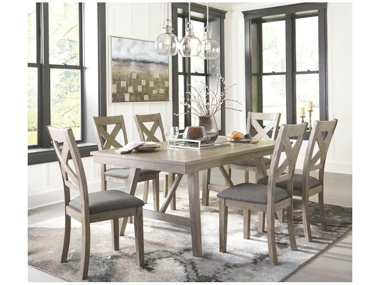 Ashley Aldwin 7 Piece Rectangular Dining Table Set D617 45