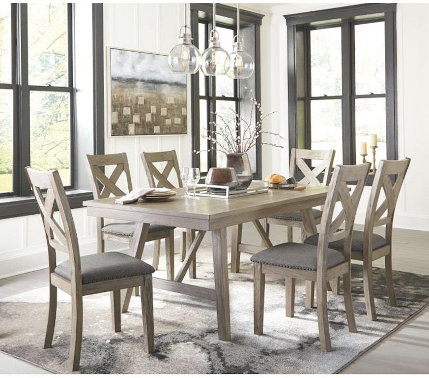 Ashley Aldwin 7 Piece Rectangular Dining Table Set D617-45
