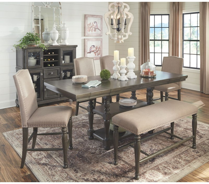 Ashley Audberry 6 Piece Rectangular Counter Dining Set