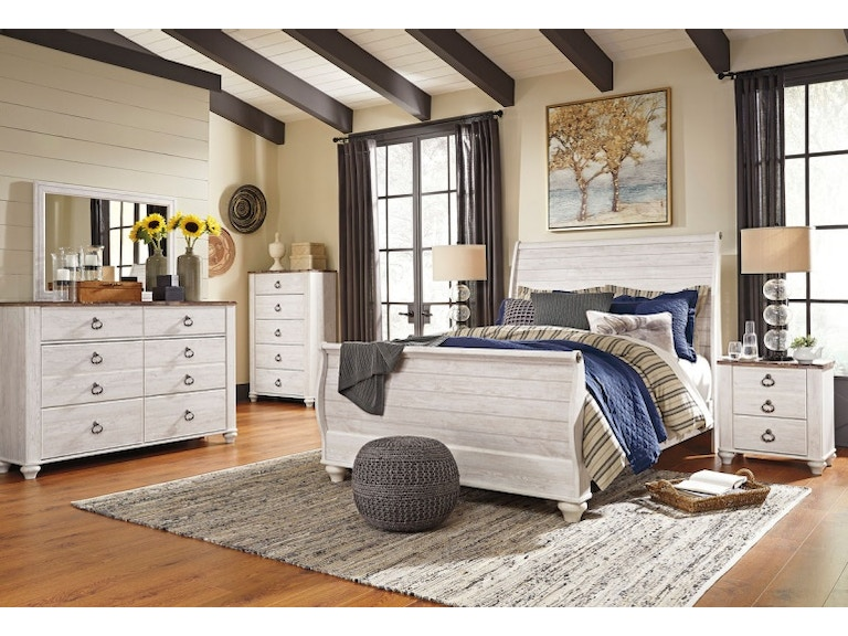 Ashley Willowton 7 Piece Queen Bed Set - Portland, OR | Key Home ...