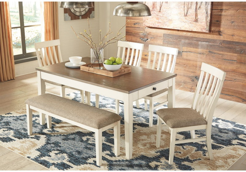 Ashley Bardilyn 6 Piece Rectangular Dining Room Table Set D447 25 01 4 00 Portland Or Key Home
