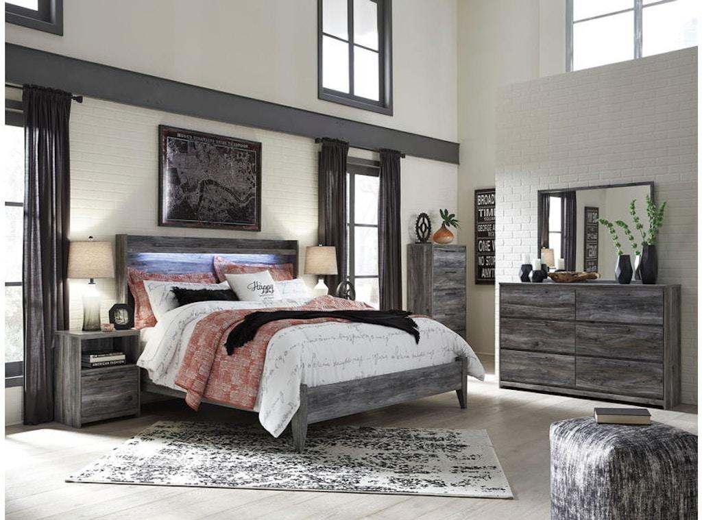 7 Piece King Panel Bedroom Set