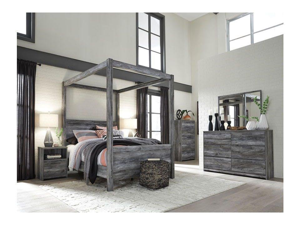 Ashley Baystorm 6 Piece Queen Canopy Bedroom Set B221 31 36 46 71 61 98 Portland Or Key Home